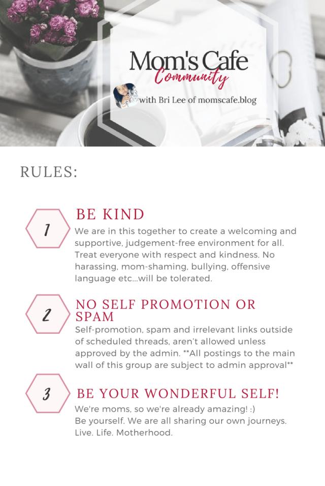 MomsCafeCommunity rules